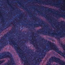 Podšívka fialová s ornamentami, š.145