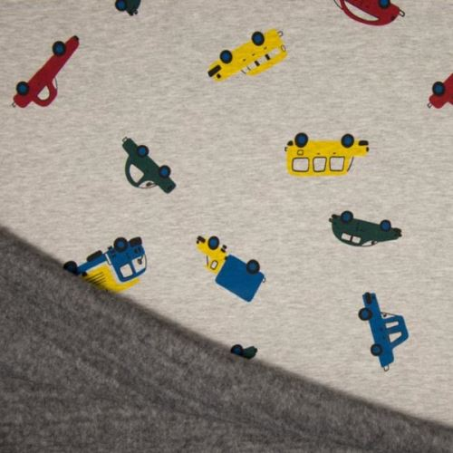 Warmkeeper šedý, barevná auta, š.145