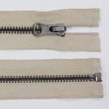 Zip kovový 6mm tmavý nikl délka 60cm, barva 307 (dělitelný)