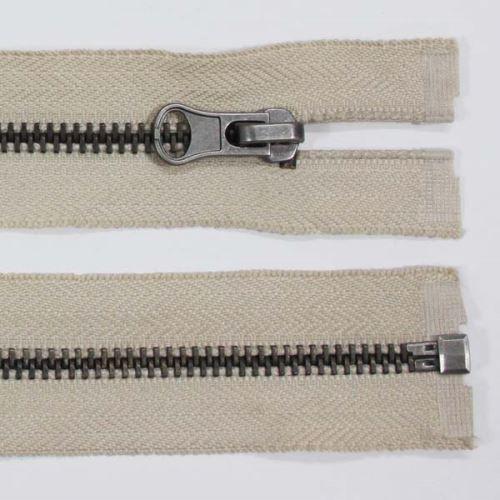 Zips kovový 6mm tmavý nikel dĺžka 60cm, farba 307 (deliteľný)