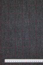 Kostýmovka šedá, červené káro š.150