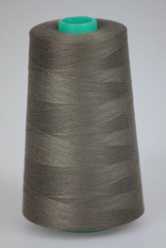Nit KORALLI polyesterová 120, 5000Y, odstín 7665, hnědá-šedá