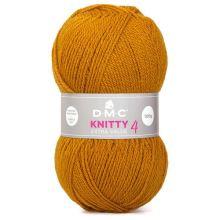 Priadza Knitti 4 100g, hrdzavo oranžová - odtieň 766