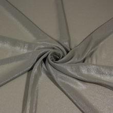 Šifon khaki, stříbrný tisk š.140