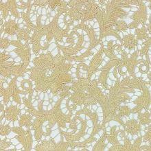 Krajka N5085 béžová, květinový vzor, š.125