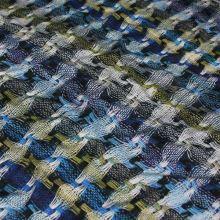 Úplet farebný, prepletený modro-zelený vzor, š.150