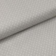 Bavlněné plátno světle šedé, bílé drobné kytky, š.140