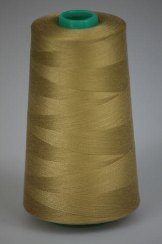 Niť KORALLI polyesterová 120, 5000Y, odtieň 2100, hnedá