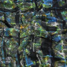 Úplet šedý 15265, barevný vzor š.150