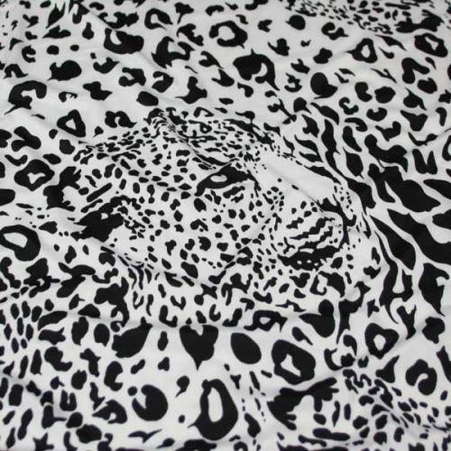 Úplet černo-bílý, zvířecí vzor, š.150