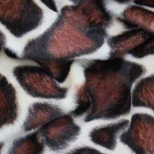 Kožešina žirafa, hnědobílý vzor, š.150