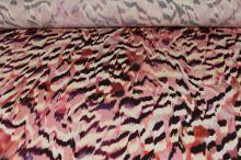 Úplet farebný 17872, ružovo-vínový vzor, š.145