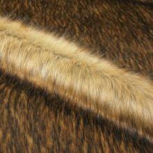 Kožušina béžovohnedá 19510, hnedý melír, š.155