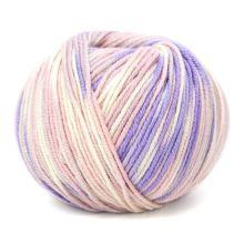 Příze HOLLIE PRINT 50g, světle růžovobílý melír - odstín 569