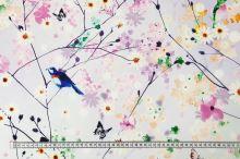 Šatovka jarní květy, ptáci, š.145