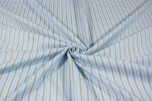 Košilovina světle modrá, béžový pruh, š.145