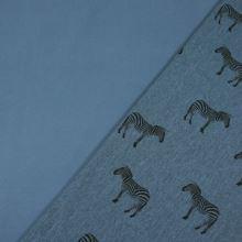 Softshell modrý melange, zebry, š.140