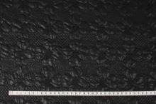 Prošev černý, výšivka květ, š.140