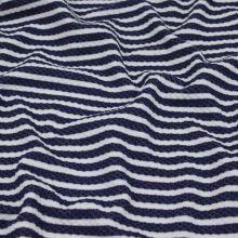Úplet bielo-modrý tkaný pruh, š.135