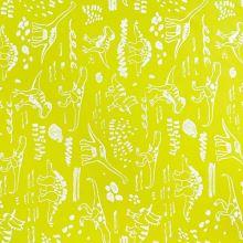 Softshell neónovo žltý, reflexné dinosaury, š.145