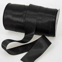Stuha čierna saténová oboulíc, šírka 40mm