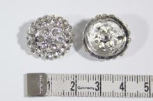 Gombík štrasový K19H, priemer 19 mm