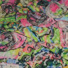 Krajka N3861, barevný vzor š.150