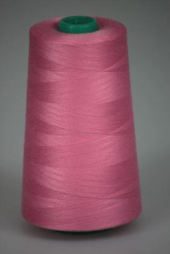 Niť KORALLI polyesterová 120, 5000, odtieň 3445, ružová