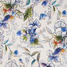 Šatovka bílá, modro-oranžové květy, š.145