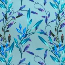 Šatovka SILKY šedozelená, smaragdové a fialové listy, š.145