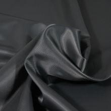 Podšívka tmavě šedá, šikmý proužek, š.150