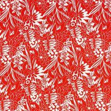 Šatovka 19702 červená, biely vzor, š.140