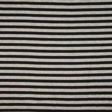 Úplet rebrový, čierno-šedý prúžok, 180g/m, š.145