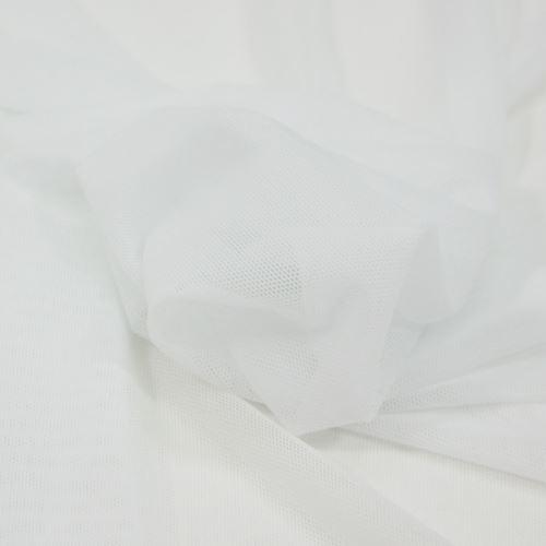 Elastický tyl bílý, š.145