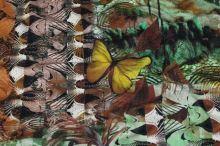 Úplet barevný 16148, žlutí motýlci, š.155