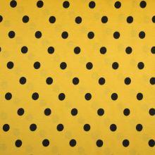 Úplet LINO žlutý, černý puntík, š.150