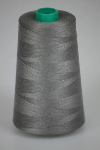 Niť KORALLI polyesterová 120, 5000Y, odtieň 9250, šedá
