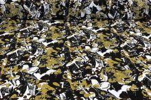 Šatovka N1246 bílo-černo-hnědý vzor, š.145