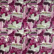 Úplet 15930, zeleno-fialový vzor š.150