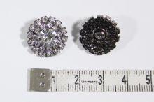 Knoflík štrasový K6A, průměr 12 mm
