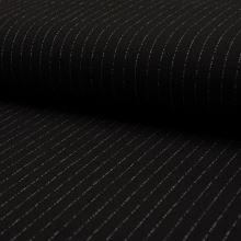 Kostýmovka CREPE černá, bílý pruh, š.140