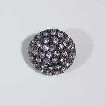 Gombík štrasový K19E, priemer 19 mm