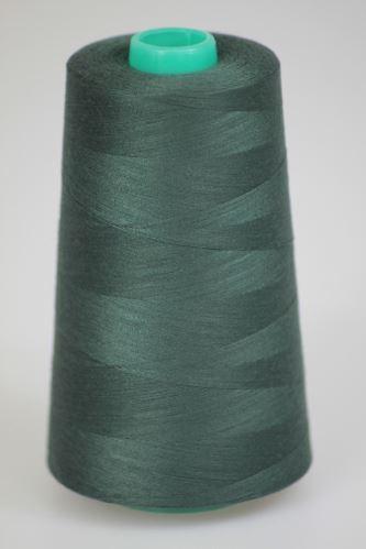 Niť KORALLI polyesterová 120, 5000Y, odtieň 6695, šedá-zelená