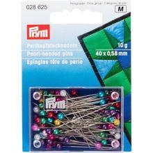 Špendlíky Prym s perleťovou hlavičkou 0,58x40mm, 10g