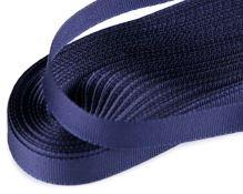 Stuha taftová temně modrá, šíře 9mm, 10m