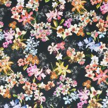 Šatovka čierna, farebné orchideje, š.145