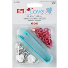 Druky Prym Love Jersey 390701 barevný mix, 8 mm, 21ks