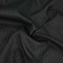 Taft černý, vzor kosočtverec š.140