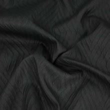 Taft čierny, vzor kosoštvorec š.140