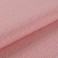 Bavlnené plátno ružové, drobné vetvičky, š.145